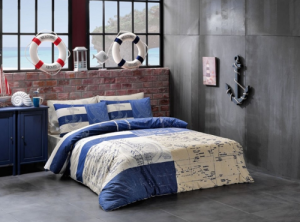 bawełniana pościel na łóżku