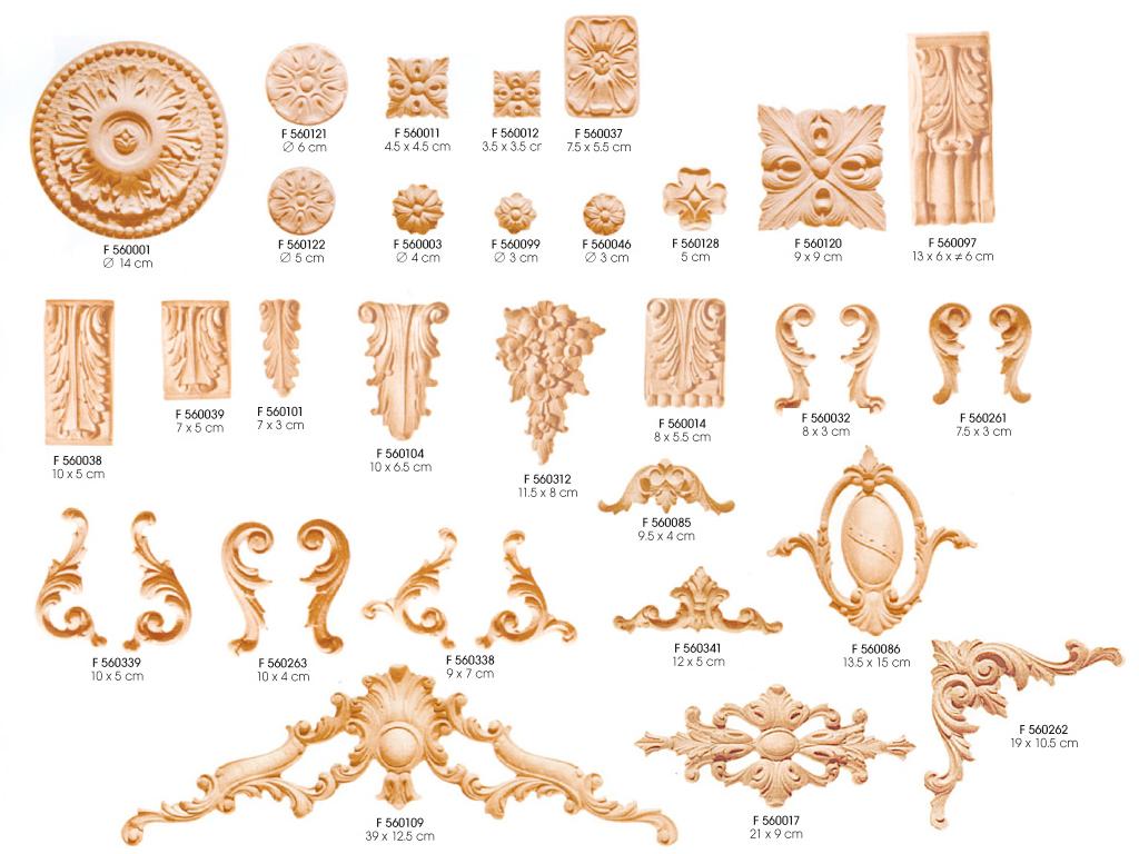 ornamenty drewniane